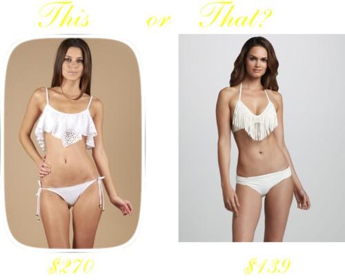 Splurge vs Steal - The Fringe Bikini
