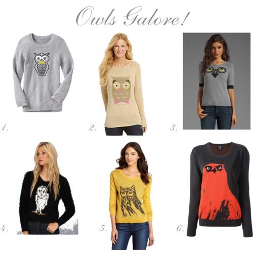 Owl Sweaters