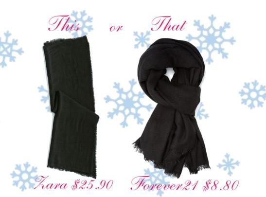 Splurge vs steal - The basic scarf
